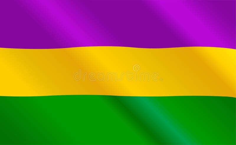 Bandeira de Mardi Gras ilustração do vetor