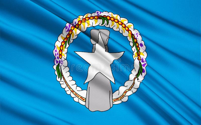 Bandeira de Mariana Islands do norte EUA, Saipan - Micronésia imagens de stock