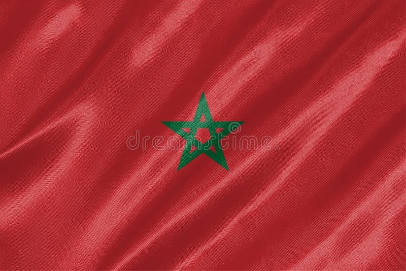 Bandeira de Marrocos ilustração do vetor
