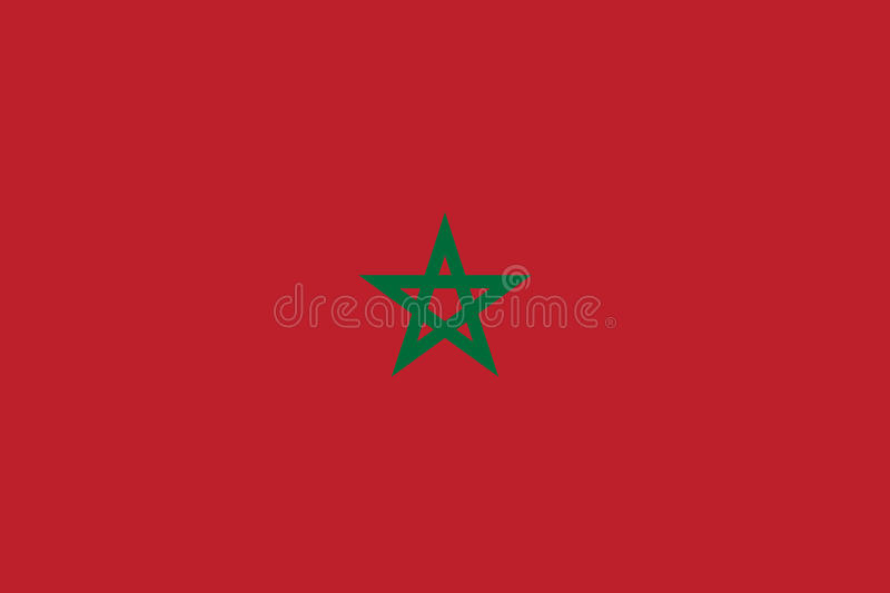 Bandeira de Marrocos lisa ilustração stock