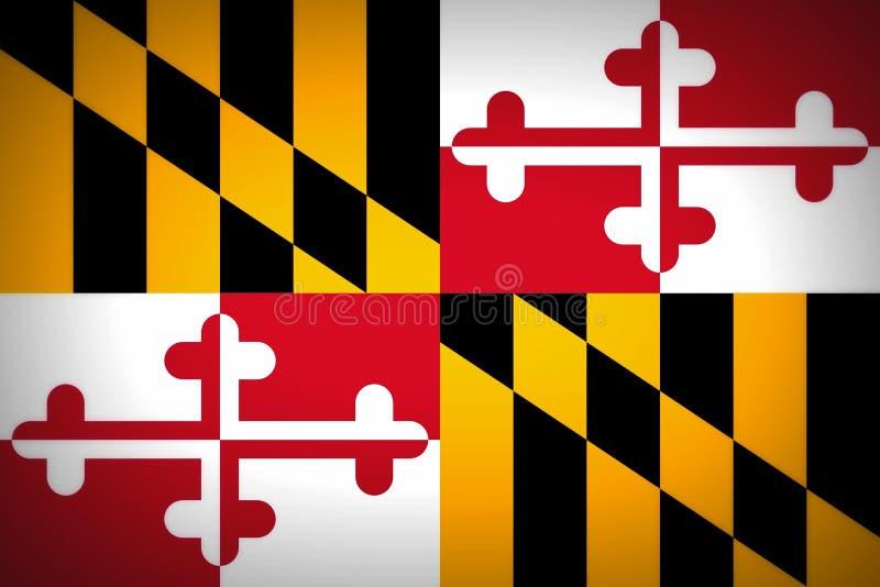 Bandeira de Maryland foto de stock