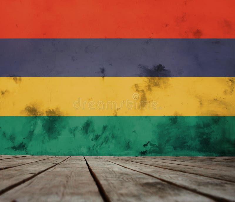 bandeira de Maurícia ilustração do vetor