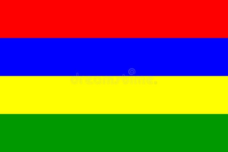 Bandeira de Maurícia ilustração royalty free