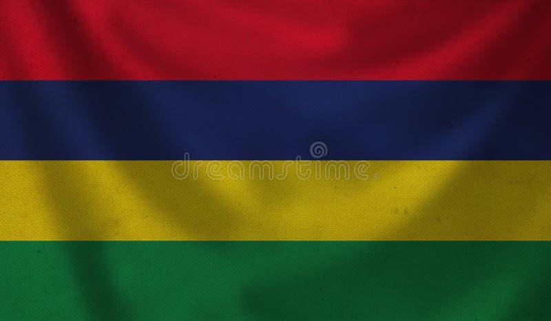 bandeira de Maurícia ilustração stock