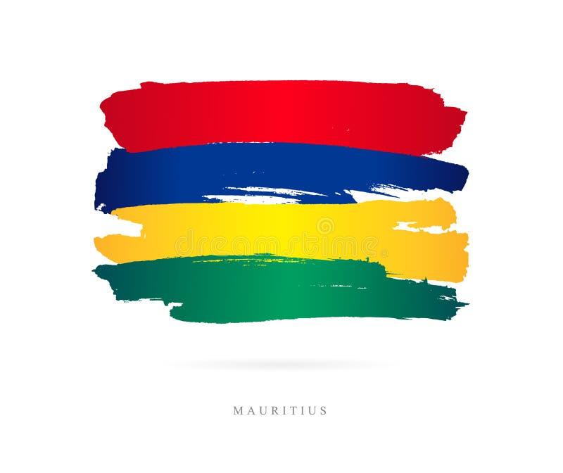 bandeira de Maurícia Conceito abstrato ilustração royalty free