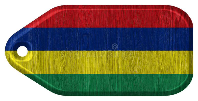 Bandeira de Maurícias ilustração do vetor