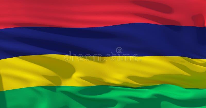 Bandeira de Maurícias, ilustração 3d ilustração do vetor