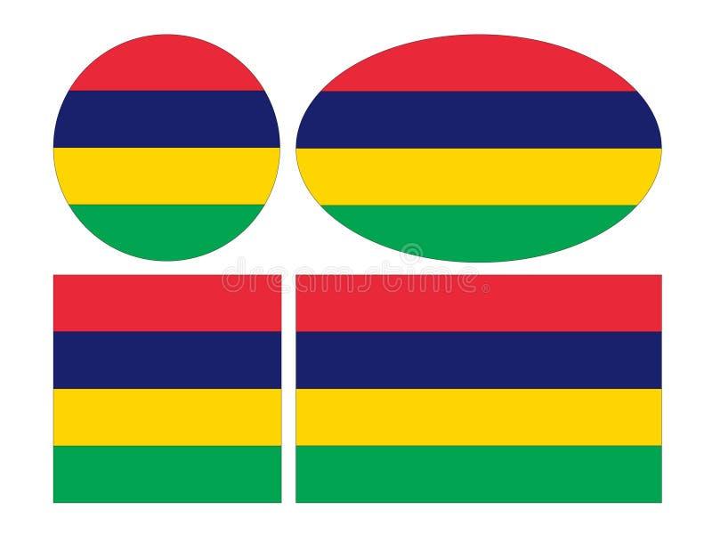 Bandeira de Maurícias - Republic of Mauritius ilustração royalty free