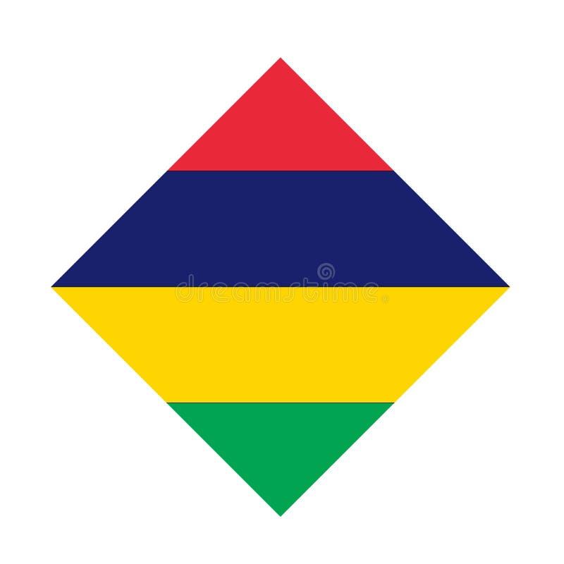 Bandeira de Maurícias - Republic of Mauritius ilustração do vetor
