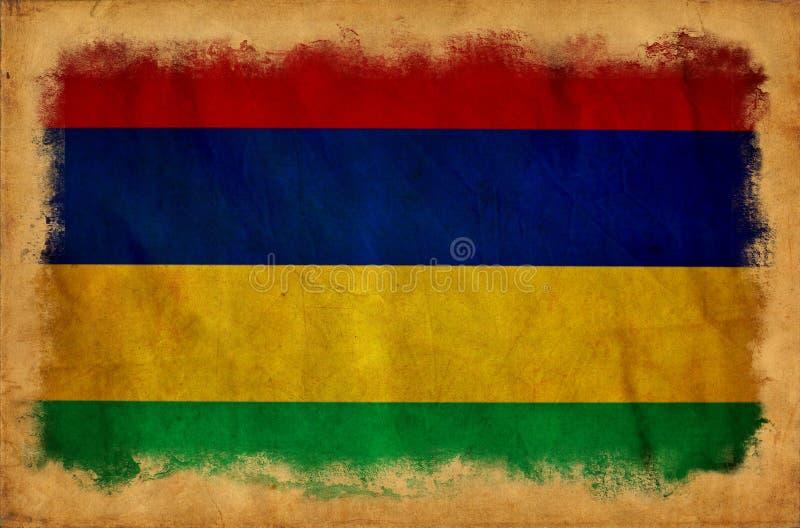 Bandeira de Mauritius Grunge ilustração royalty free