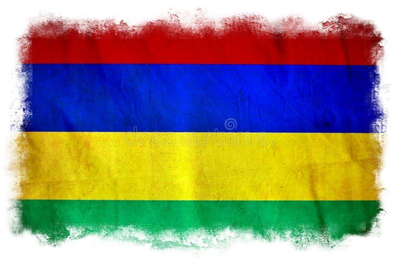 Bandeira de Mauritius Grunge ilustração do vetor