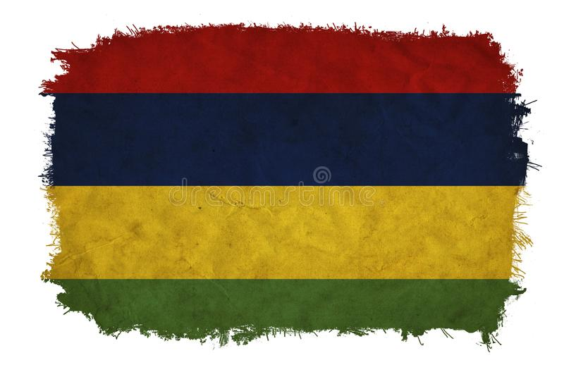 Bandeira de Mauritius Grunge ilustração stock