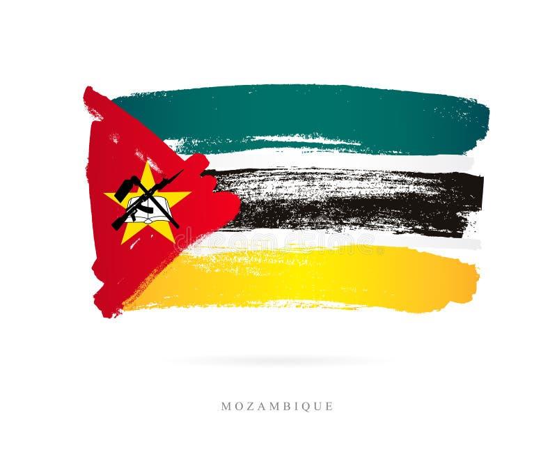 Bandeira de Moçambique Conceito abstrato ilustração royalty free