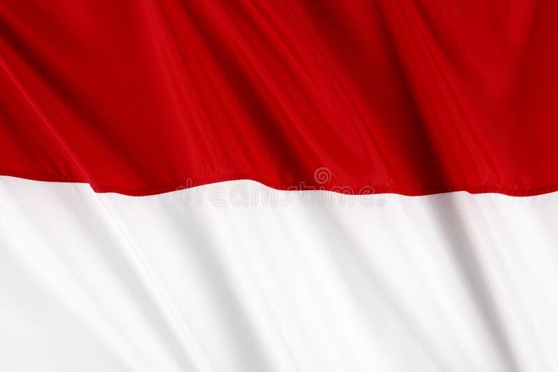 Bandeira de Monaco imagem de stock