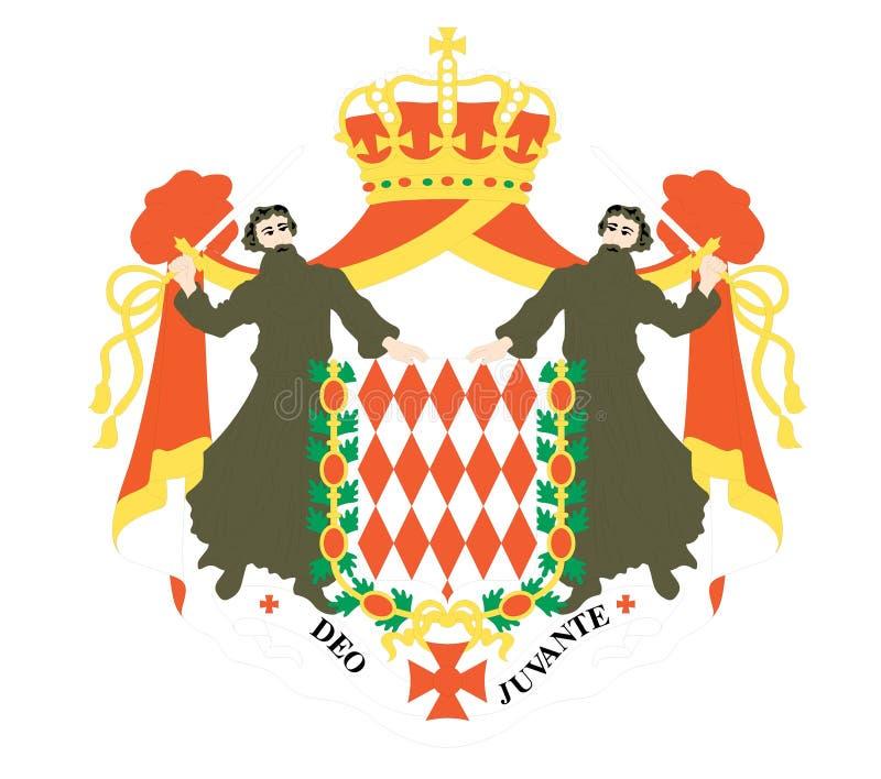 bandeira de monaco ilustração royalty free