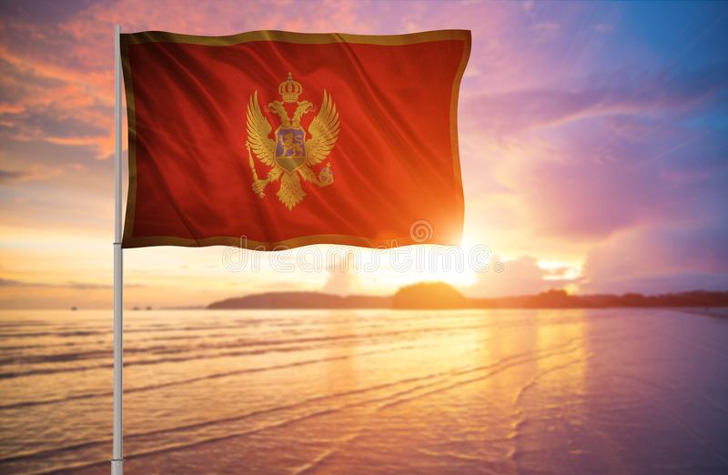 Bandeira de Montenegro fotos de stock royalty free