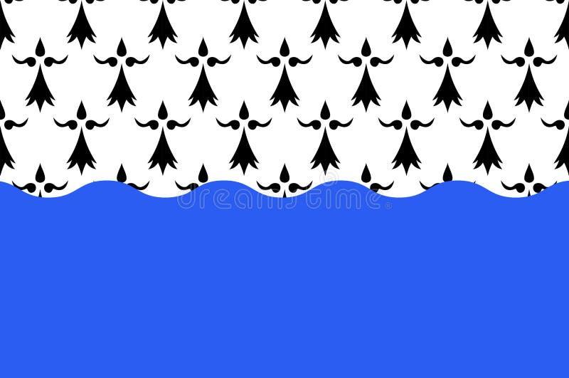 Bandeira de Morbihan em Brittany, França ilustração royalty free