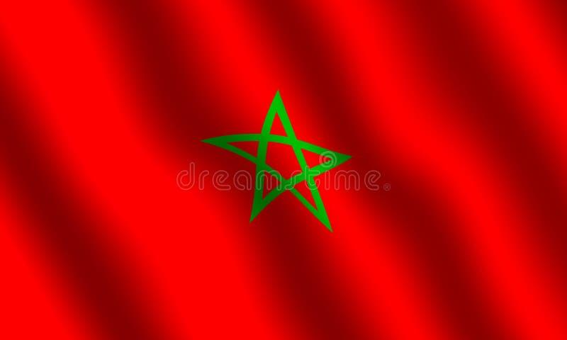 Bandeira de Moroccon ilustração stock
