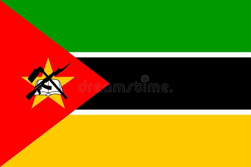 Bandeira de Mozambique ilustração stock