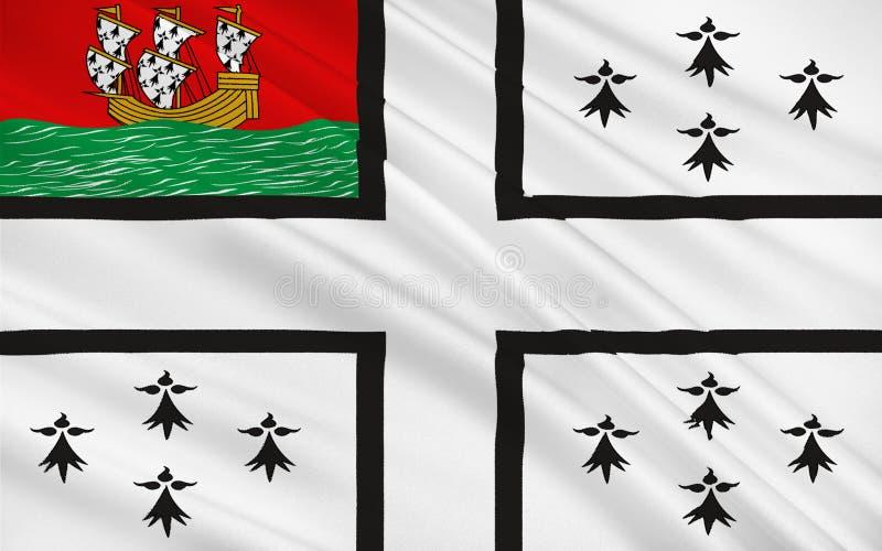 Bandeira de Nantes, França ilustração stock