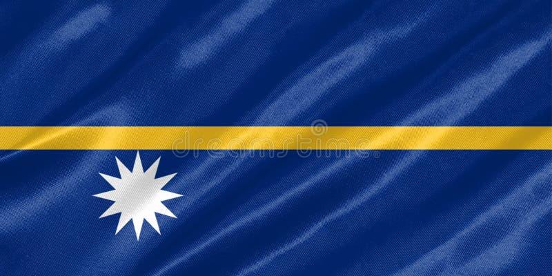 Bandeira de Nauru ilustração royalty free