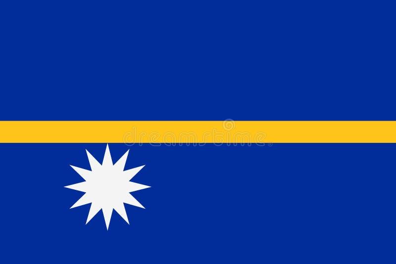 Bandeira de Nauru ilustração do vetor