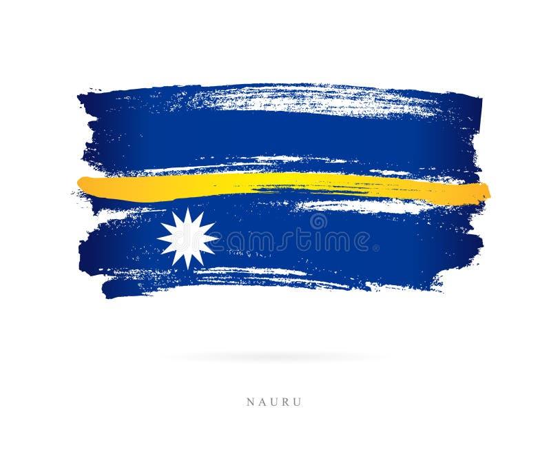Bandeira de Nauru Conceito abstrato ilustração stock