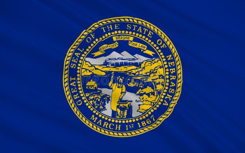 Bandeira de Nebraska, EUA ilustração do vetor