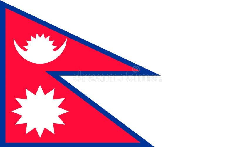 Bandeira de Nepal ilustração royalty free