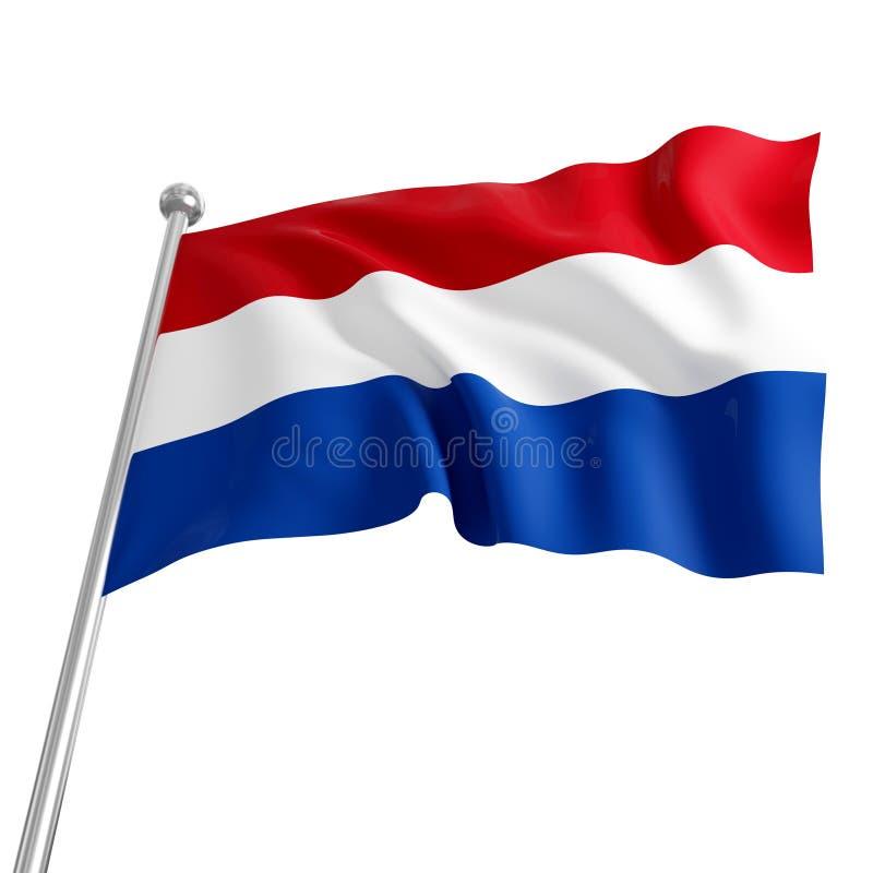 Bandeira de Netherland ilustração royalty free