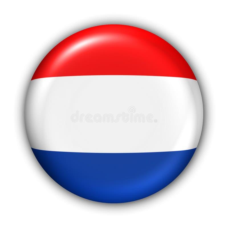 Bandeira de Netherland ilustração stock