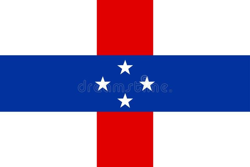 Bandeira de Netherland Antilhas ilustração royalty free