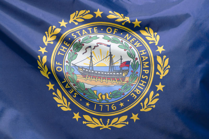 Bandeira de New-Hampshire do estado fotografia de stock royalty free