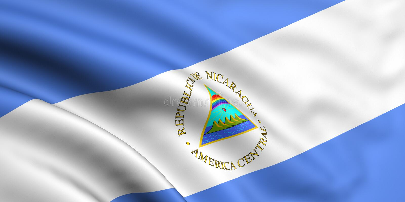Bandeira de Nicarágua foto de stock