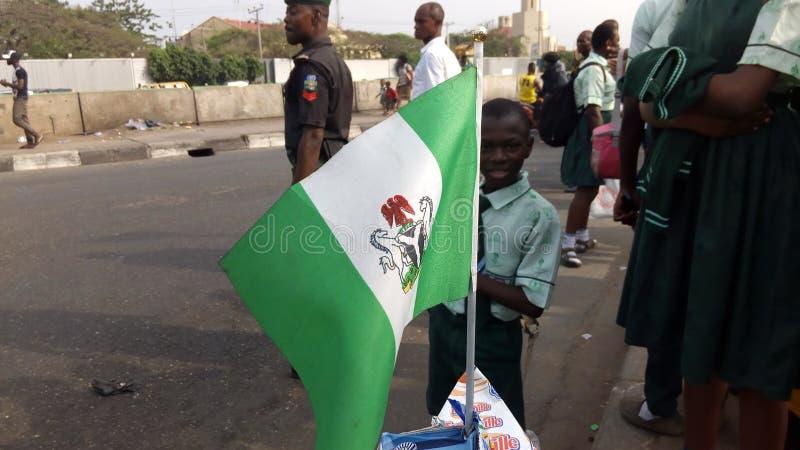 Bandeira de Nigéria fotografia de stock royalty free
