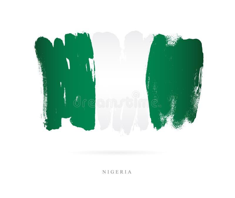 Bandeira de Nigéria Conceito abstrato ilustração stock