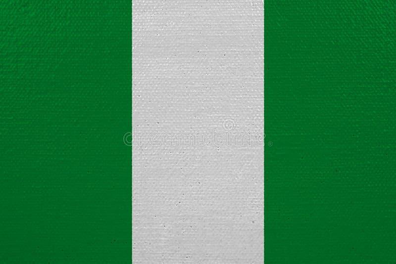 Bandeira de Nigéria na lona ilustração stock