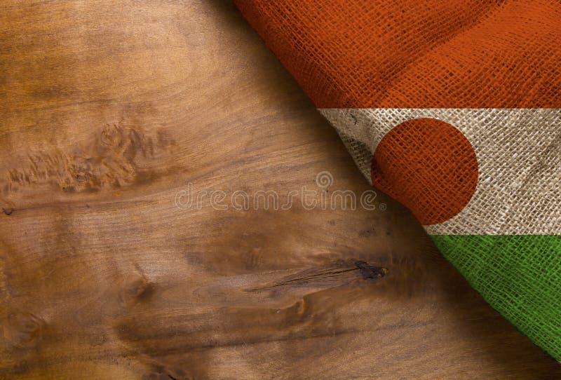 Bandeira de Niger imagens de stock