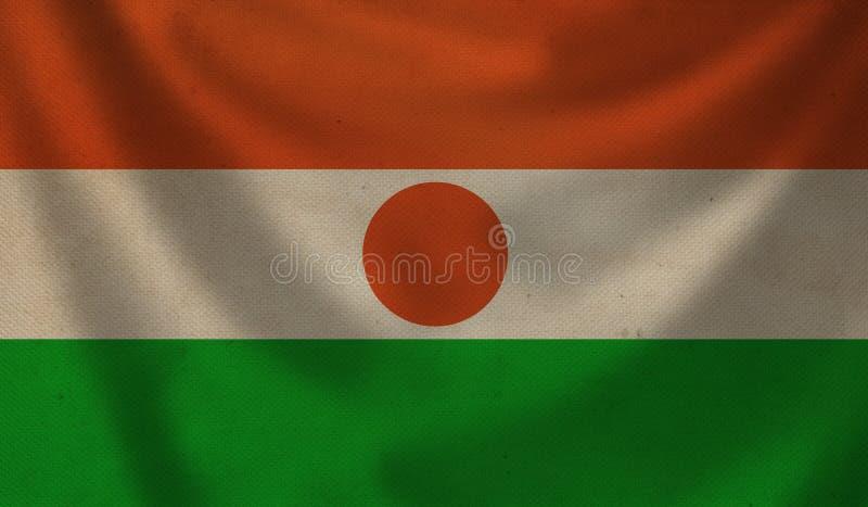 Bandeira de Niger ilustração do vetor