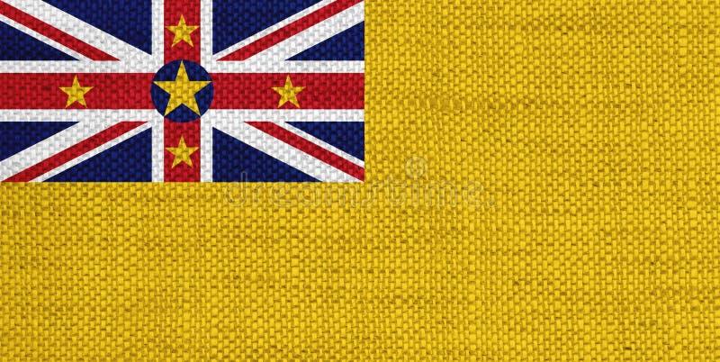 Bandeira de Niue no linho velho ilustração do vetor