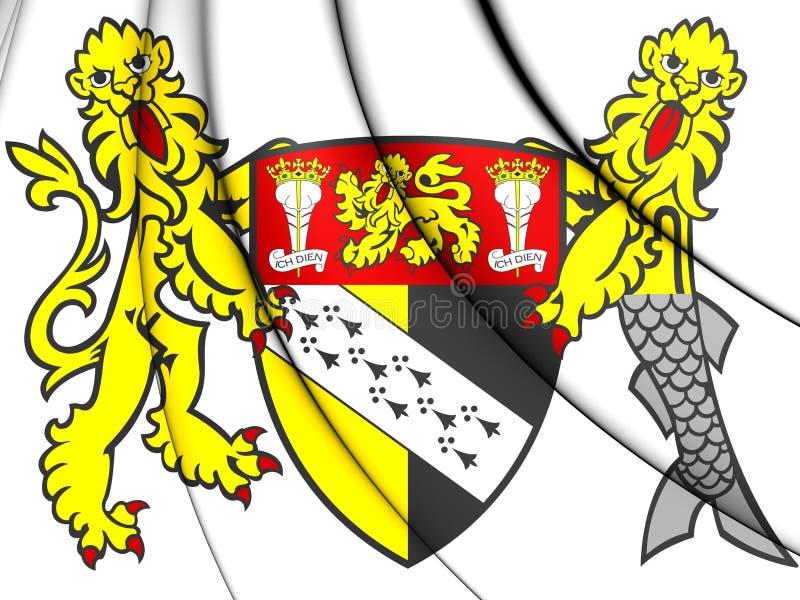 Bandeira de Norfolk, Inglaterra ilustração royalty free