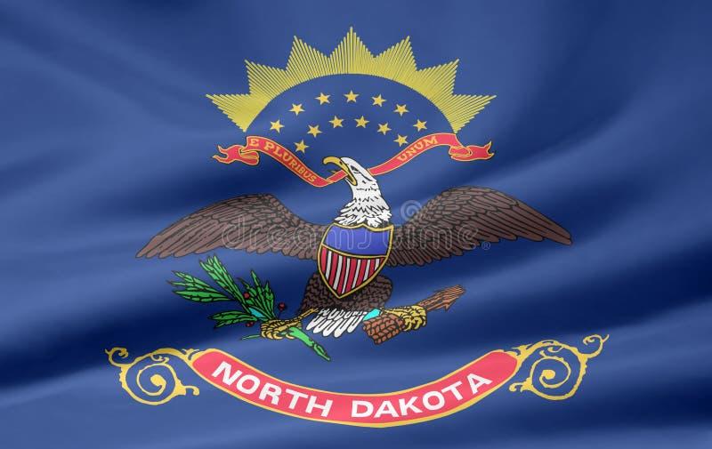 Bandeira de North Dakota ilustração stock