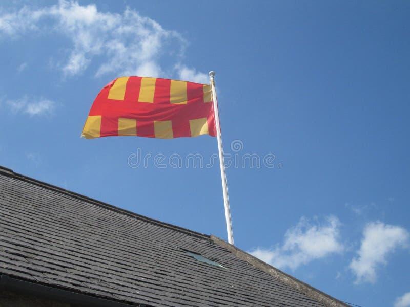 Bandeira de Northumberland fotografia de stock