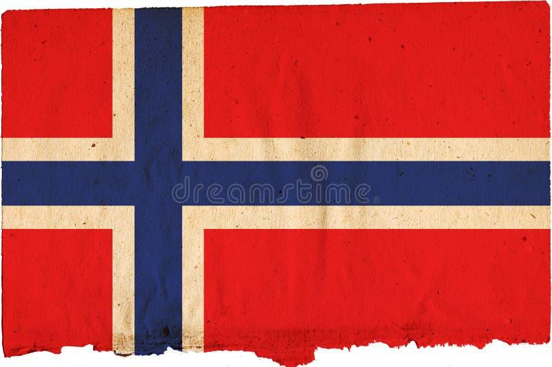 Bandeira de Noruega ilustração royalty free