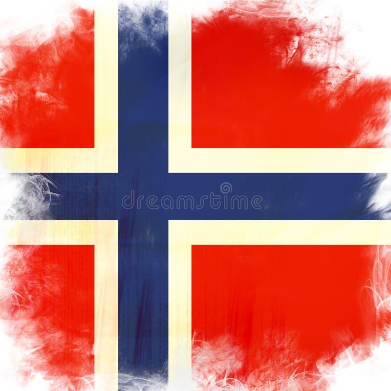 Bandeira de Noruega ilustração stock
