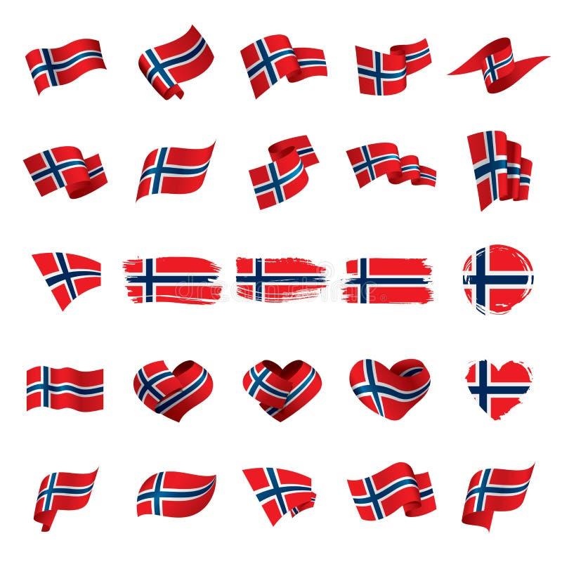 Bandeira de Noruega, ilustração do vetor ilustração stock