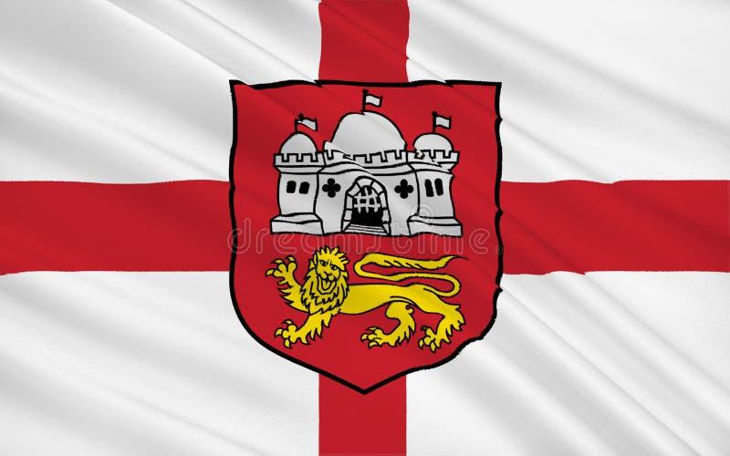 A bandeira de Norwich é uma cidade no rio Wensum, Inglaterra ilustração stock