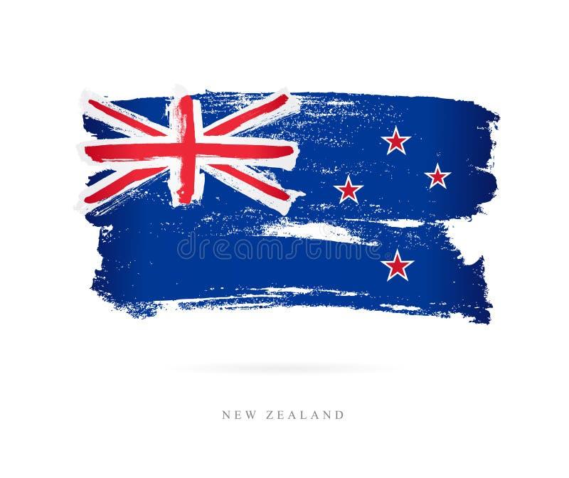 Bandeira de Nova Zelândia Conceito ilustração do vetor