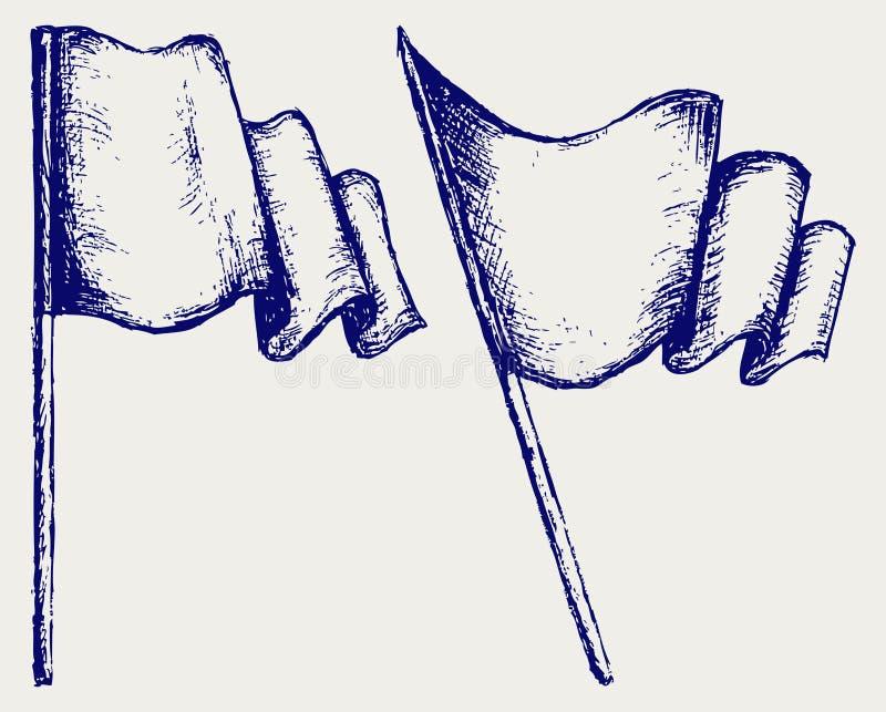 Download Bandeira de ondulação ilustração do vetor. Ilustração de desenhado - 26513663