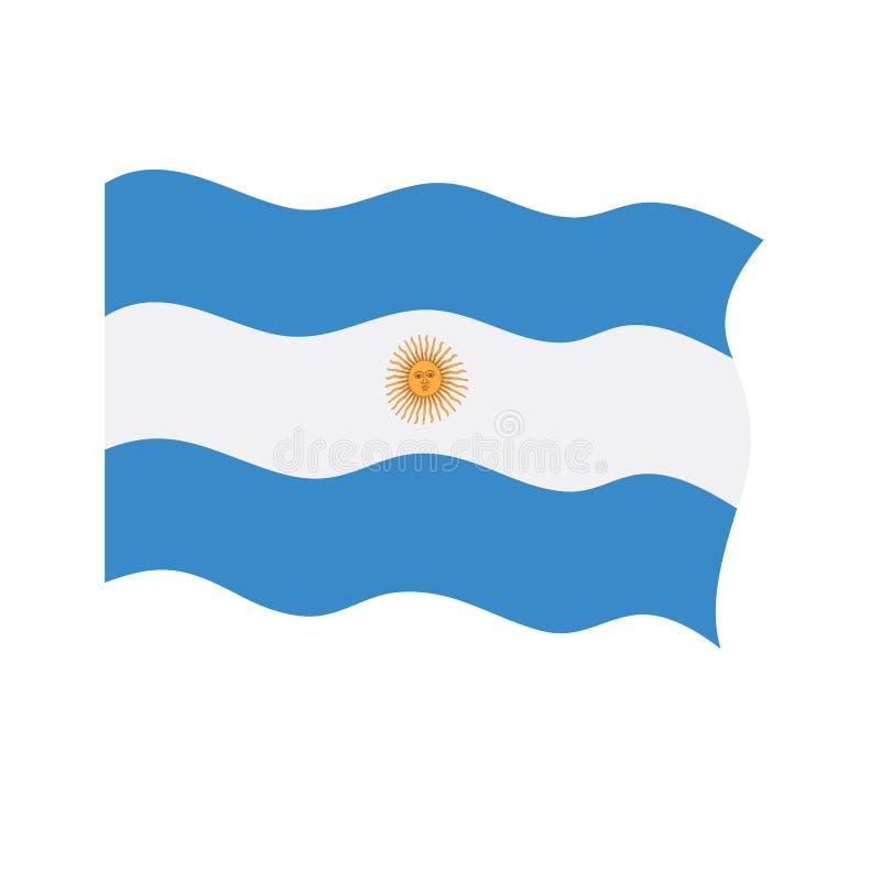 Bandeira de ondulação de Argentina ilustração stock